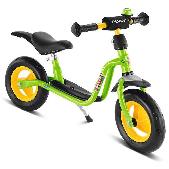 колело за баланс за дете от 85 см PUKY LR M Plus kiwi зелено колело без педали